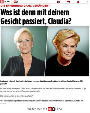 Die Effenberg ganz verändert | Was ist denn mit deinem Gesicht passiert, Claudia?