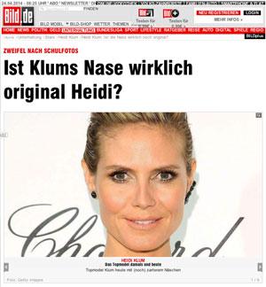 Ist Klums Nase wirklich original Heidi?