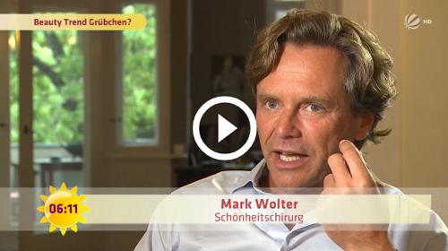 Frühstücksfernsehen: Süße Grübchen vom Doktor